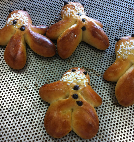 Menems - A Christmas speciality from Alsace.Rather unseasonal, but aren't these lovely? They are a traditional bake from Alsace, made at Christmas time from brioche dough