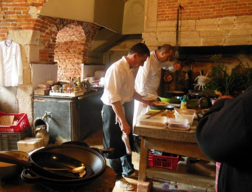 Chefs creating local dishes