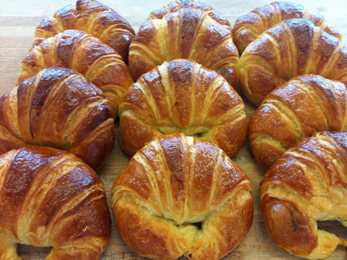 Croissants. I've had a lot of praise for my croissants, and these turned out particularly well this week.