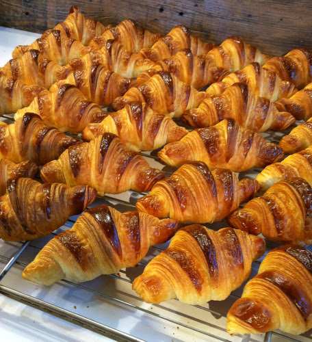 Croissants the Foricher way. Okay, I admit it, I am croissant obsessed