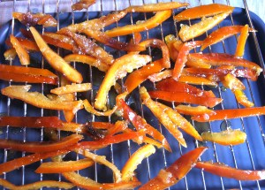 Slivers of candied peel