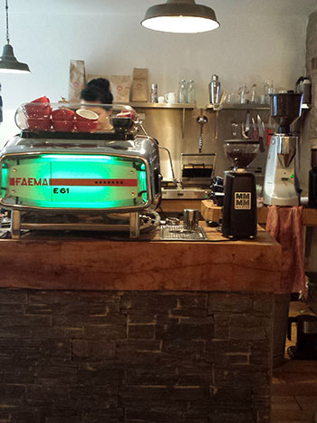 Beautiful coffee machine in Cairngorm Coffee
