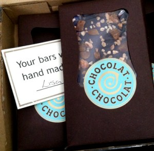 Custom Bars from Chocolat Chocolat