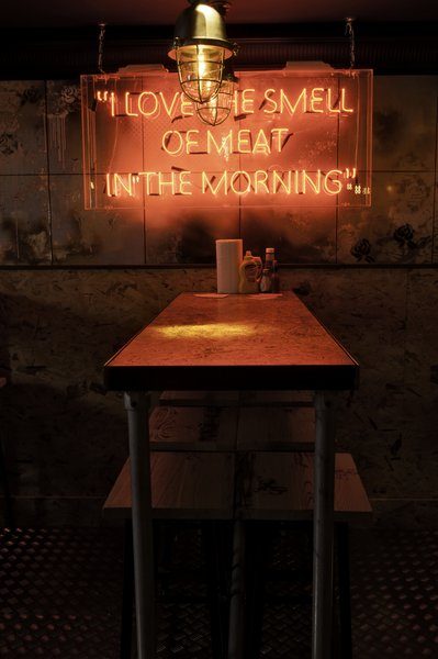 I love the smell of meat in the morning