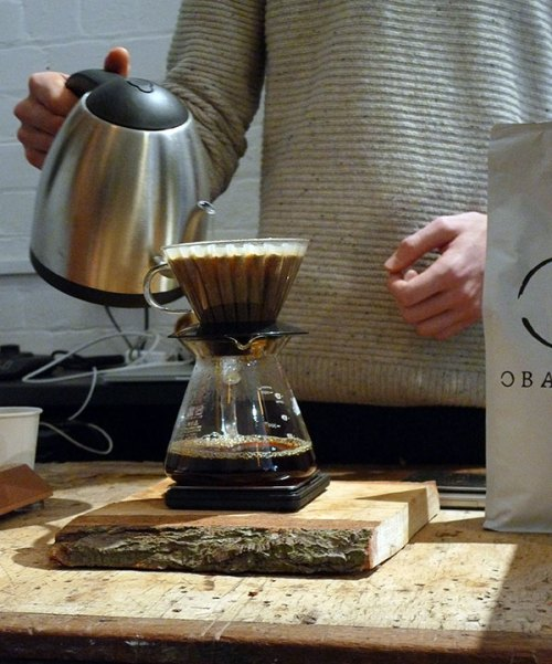 Pouring the perfect filter coffee at Obadiah.
