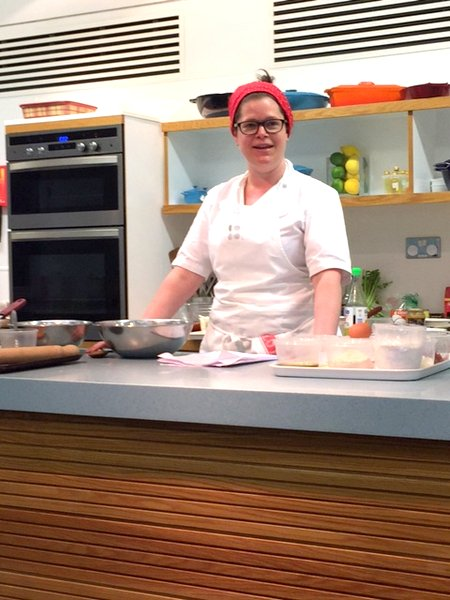 Chef Jo cooking up a storm at ENTCS