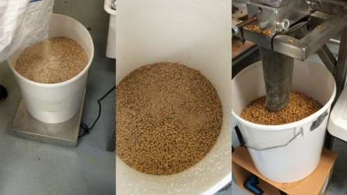 Weigh and grinding the grains