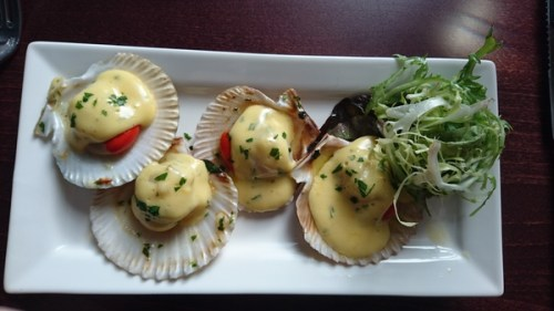 Queen scallops and bearnaise No 11 Brunswick St