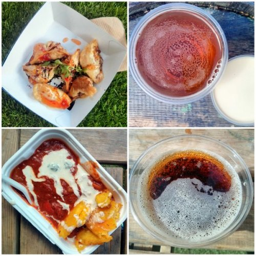 Vegan dumplings, blond beer, pepper goulash and cascara. Edinburgh Food Festival
