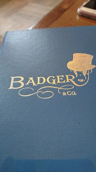 Badger and Co menu
