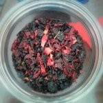 Berry tea with actual berries. This smells amazing.
