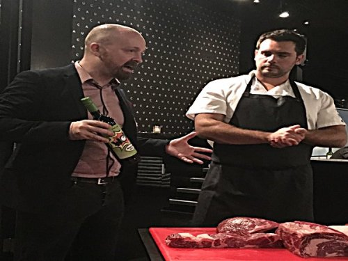Cau's grilling expert, Dom Ashworth and Head of Bars, Alex McNeil make a great double act