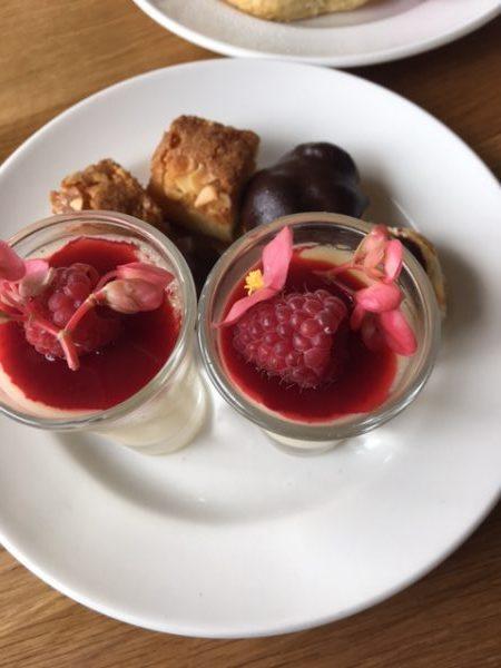 The sweet treats - the lemon posset won me over