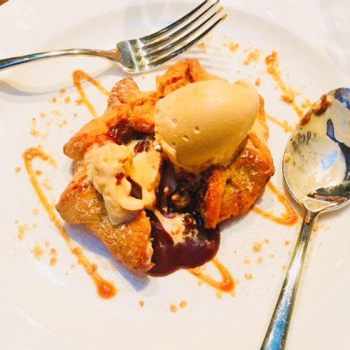 The peanut butter shortbread is a dessert with hidden pleasures