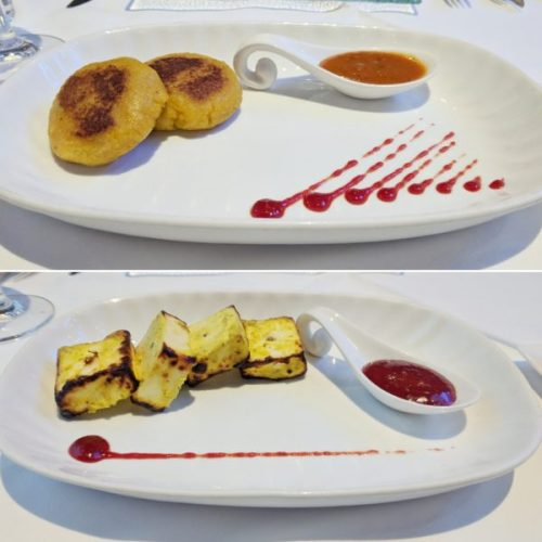Tikki is an Indian pancake - the aloo tikki on top was wonderful. At the bottom is another hero dish, the home made paneer marinaded with yoghurt and cooked in the tandoor. Mumbai Diner's Club.