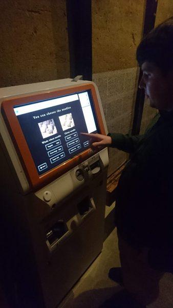 Ordering by vending machine
