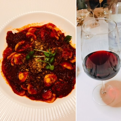 A wild boar ragu paired perfectly with a Chianti Classico DOCG 2013