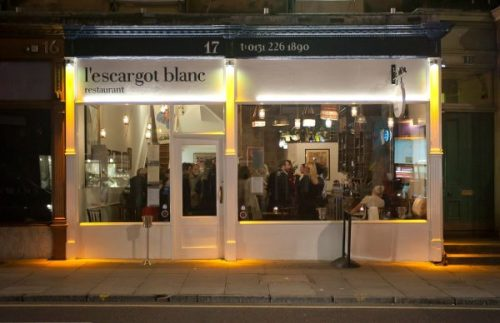 l'escargot blanc in Edinburgh's West End