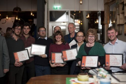 The Slow Food Scotland award winners, from left to right: