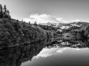 Reflections; the first of winter snow
