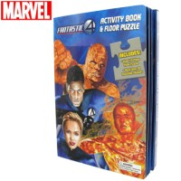FANTASTIC 4 ACTIVITY BOOK AND FLOOR PUZZLE