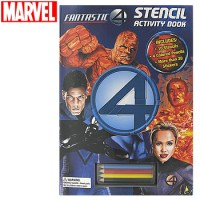 FANTASTIC FOUR STENCIL ACTIVITY BOOK
