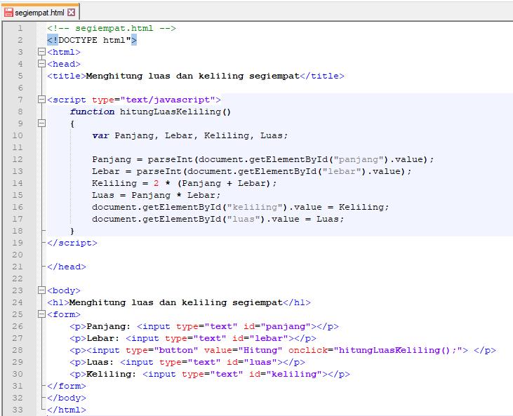 Javascript hitung luas dan keliling segi empat-1