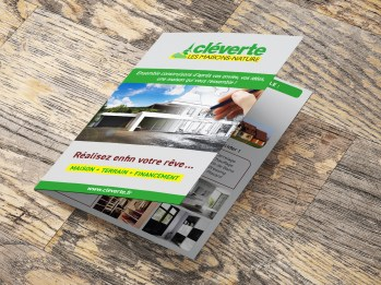 Plaquette édition et régie publicitaire immobilier cleverte plaquette