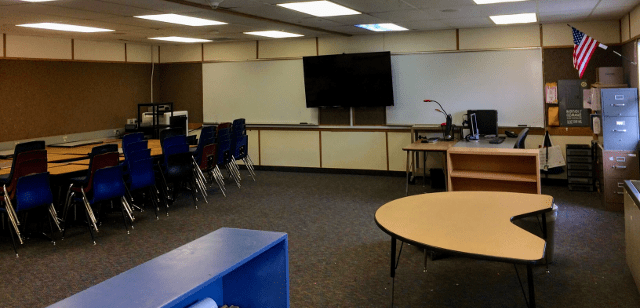 One last look at the packed up classroom
