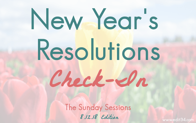 New Year's Resolutions Check-In personal word for the year