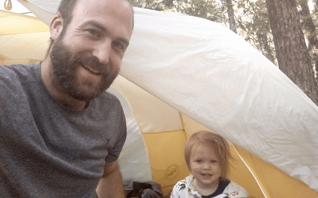 Backpacking with a toddler Big Agnes tent