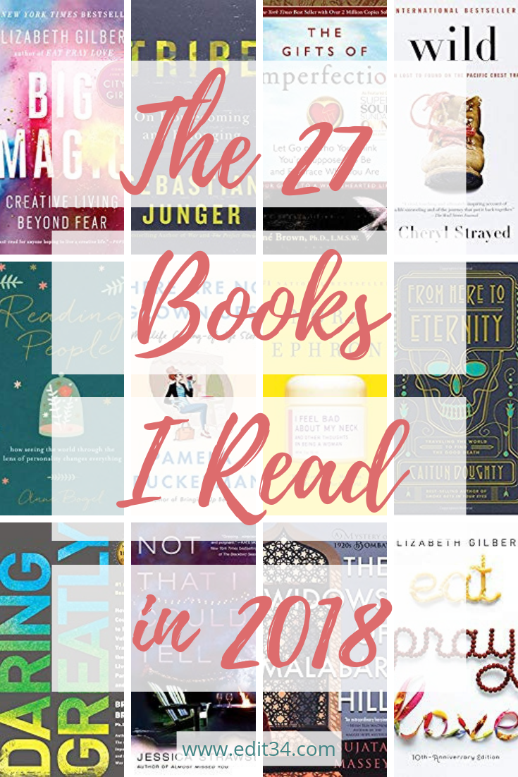 27 Books I Read in 2018