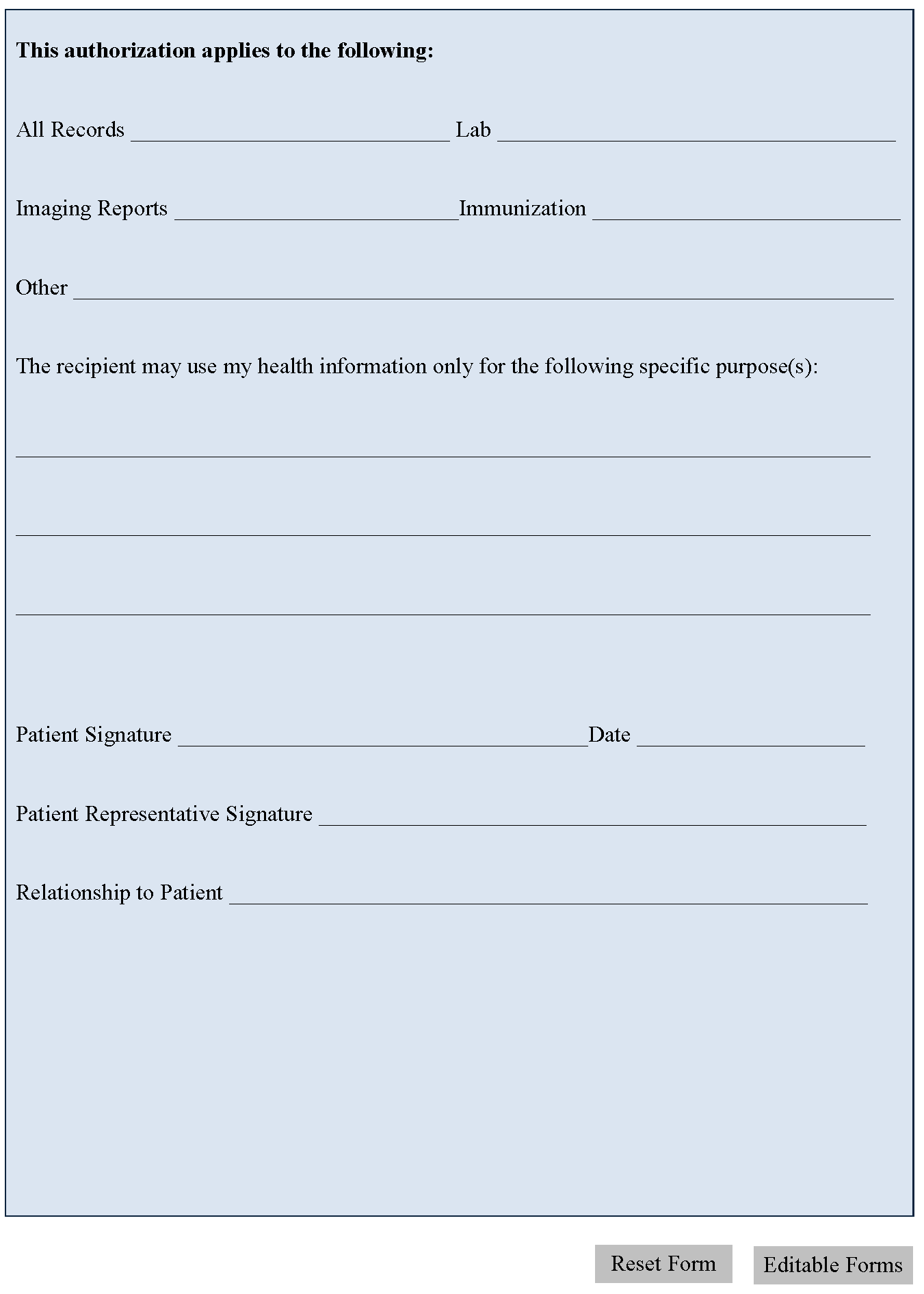 photo example of release of liability form images