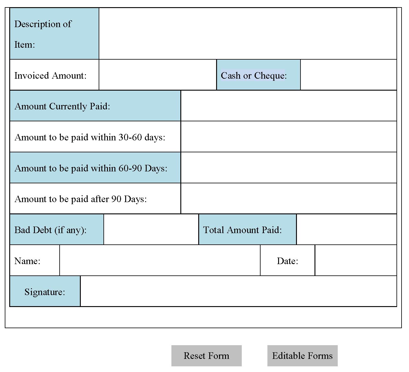 Accounts Payable Form