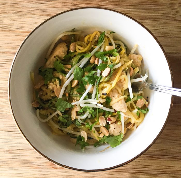 Summer Squash Pad Thai With Chicken