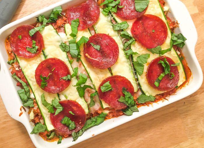 Grain-Free Zucchini Pizza Casserole