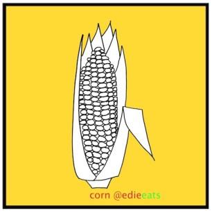 CORN food illustration by edie eats food blog by edith dourleijn