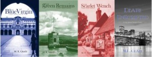 M. K. Graff, Nora Tierney Series, Blue Virgin, Green Remains, Scarlet Wench, Death Unscripted