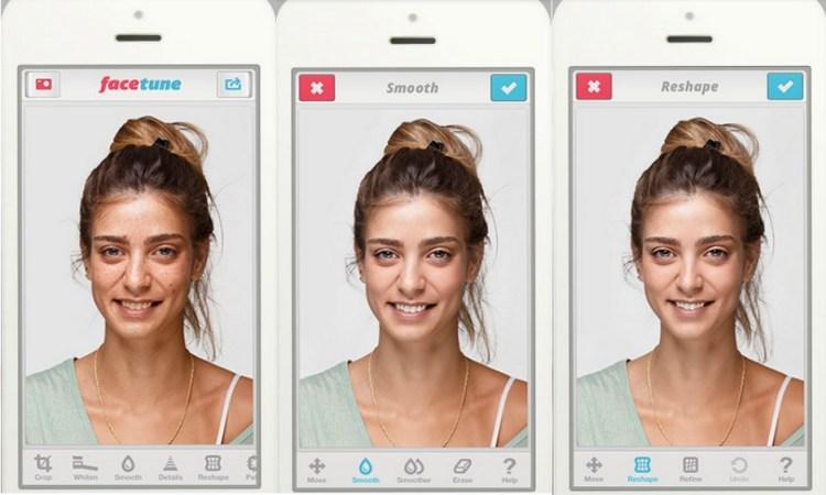 Un editor de fotos que afina la forma de tu rostro