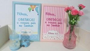 Quadros decorativos com versículos -