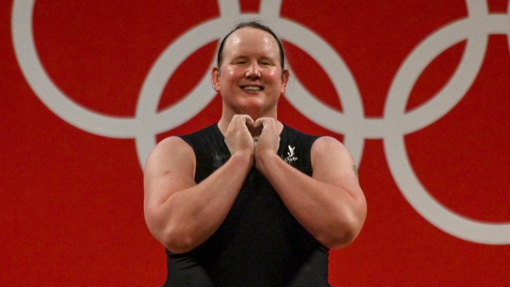 Weightlifter Laurel Hubbard of New Zealand.