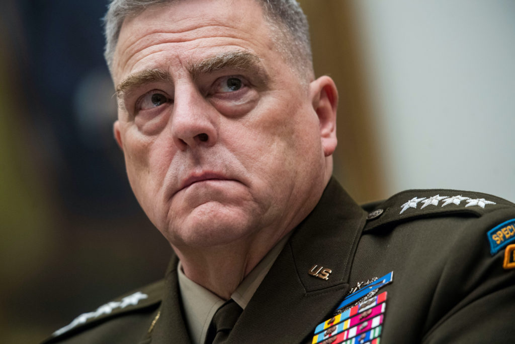 Chairman of the US Joint Chiefs of Staff General Mark Milley.