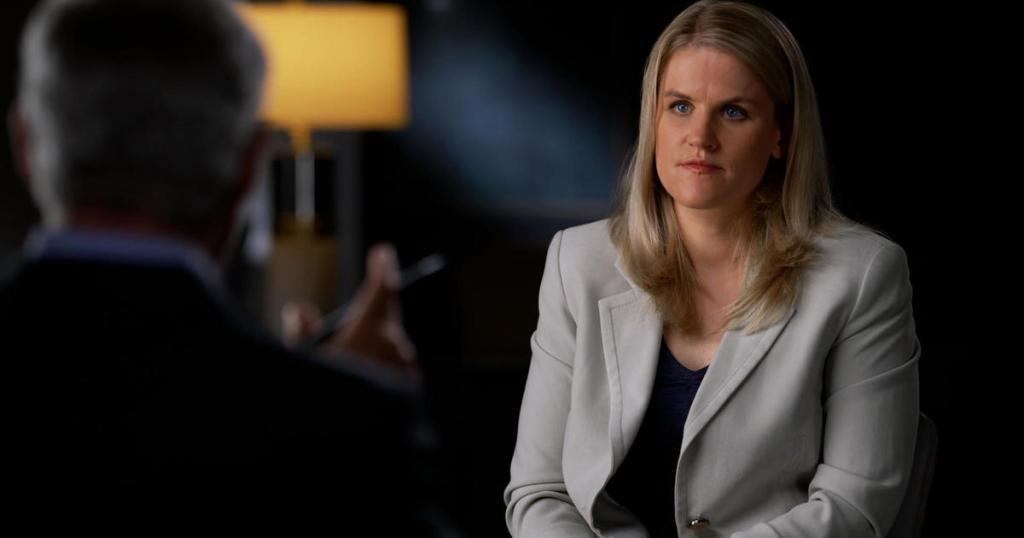 Frances Haugen, image courtesy of CBS.