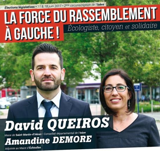 Législatives : Le Parti de gauche Échirolles et apparentés soutient David Queiros (PCF)