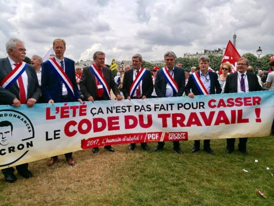 Les député.e.s communistes mobilisé.e.s contre la casse du code du travail