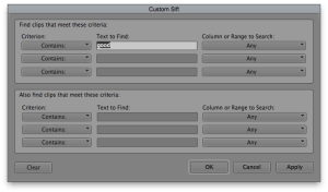 Custom Sift in Avid Media Composer