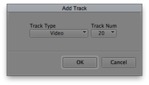 Add Custom Numbered Track to Make Template Sequence for a String Out Edit