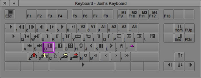 Clear In Mark Keyboard Shortcut in Avid