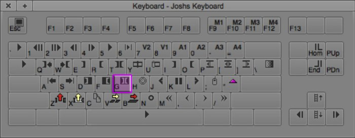 Clear Both Marks Keyboard Shortcut in Avid