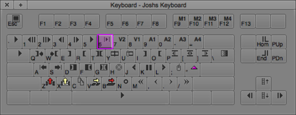 Play In to Out Keyboard Shortcut in Avid
